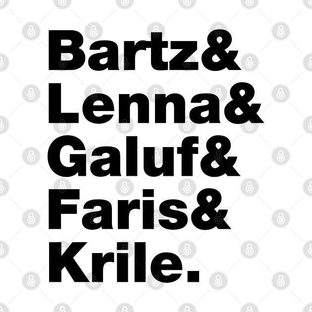 Final Fantasy 5 Characters (Black Text)