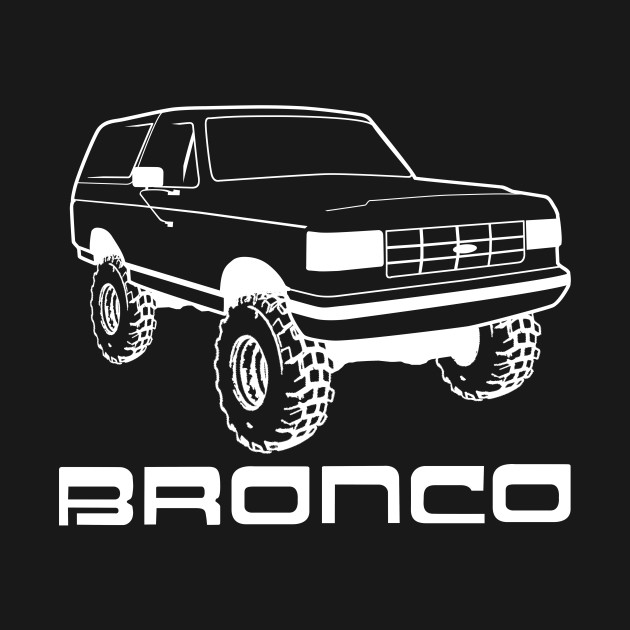 1987-1991 Ford Bronco w/Tires, Black Print