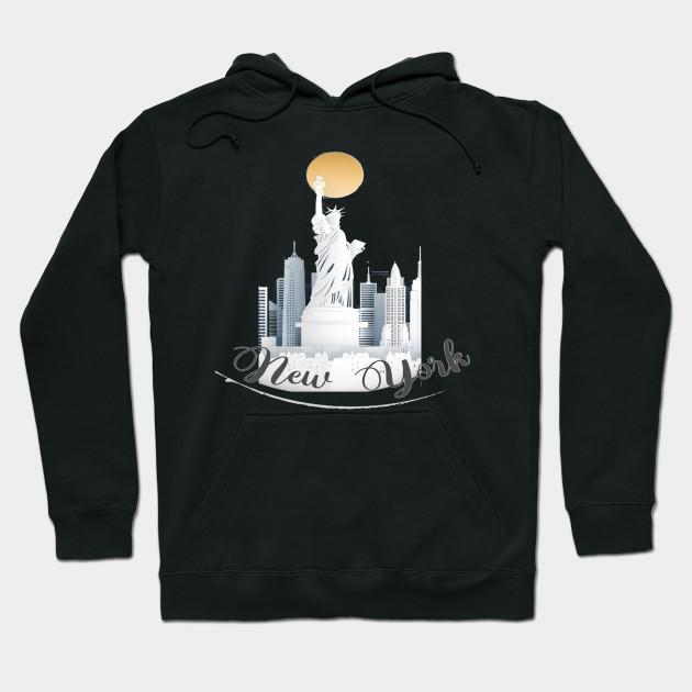 I Love NY New York Hoodie Screen Print Heart Sweatshirt Black 3Xl