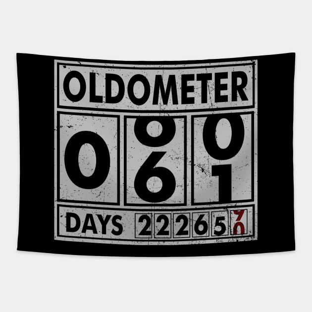 OLDOMETER 61 Years Old Made In 1957 61st Birthday Tapestry