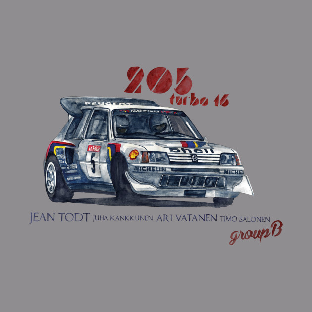 RALLY GROUP B: Peugeot 205 turbo 16