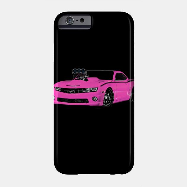 Chevy Camaro Blower Motor Hot Rod Pink Art T-Shirt Phone Case