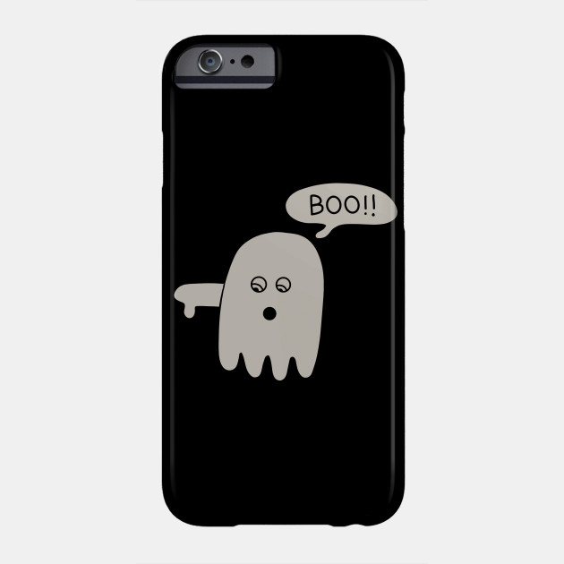 Boo Ghost Disapproving Lazy Halloween Costume design Phone Case
