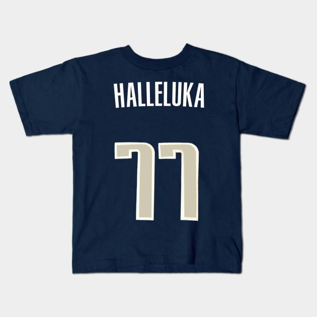 7ca406e3aed Luka Doncic  Halleluka  Nickname Jersey - Dallas Mavericks Kids T-Shirt