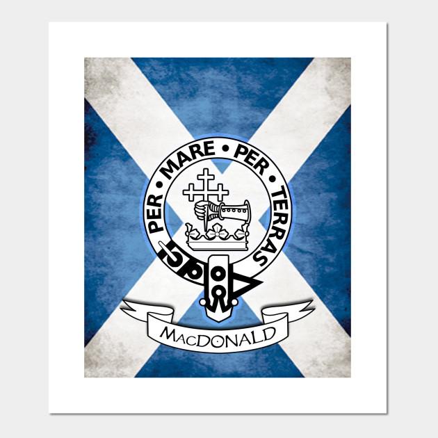Macdonald Family Crest Scottish Clans