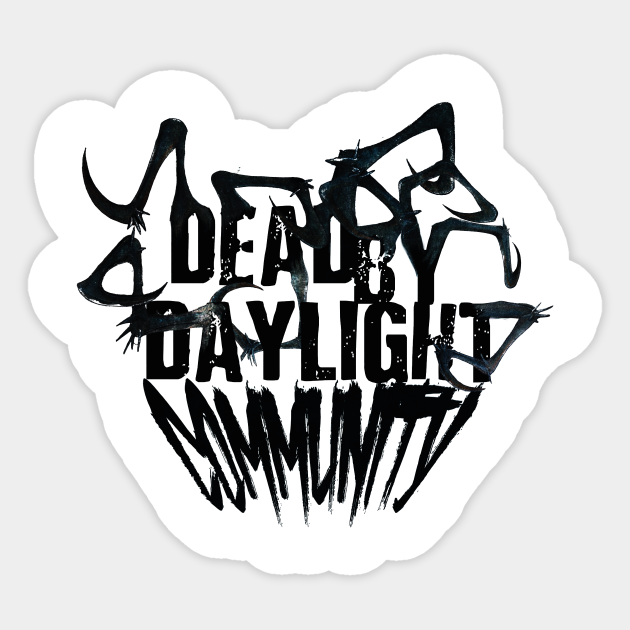 Dead By Daylight Community Logo Black Dead By Daylight Aufkleber Teepublic De Polish your personal project or design with these dead by daylight transparent png images, make it even more personalized and more attractive. teepublic
