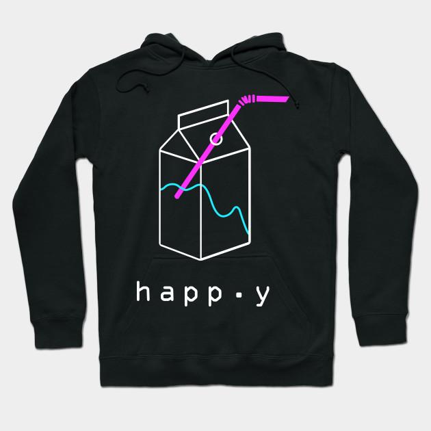 5c0ce7576e73 Happy - Aesthetic Vaporwave - Vaporwave - Hoodie