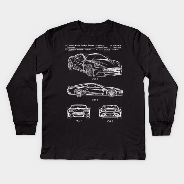 Aston Martin Patent White Aston Martin Kids Long Sleeve TShirt - Aston martin shirt