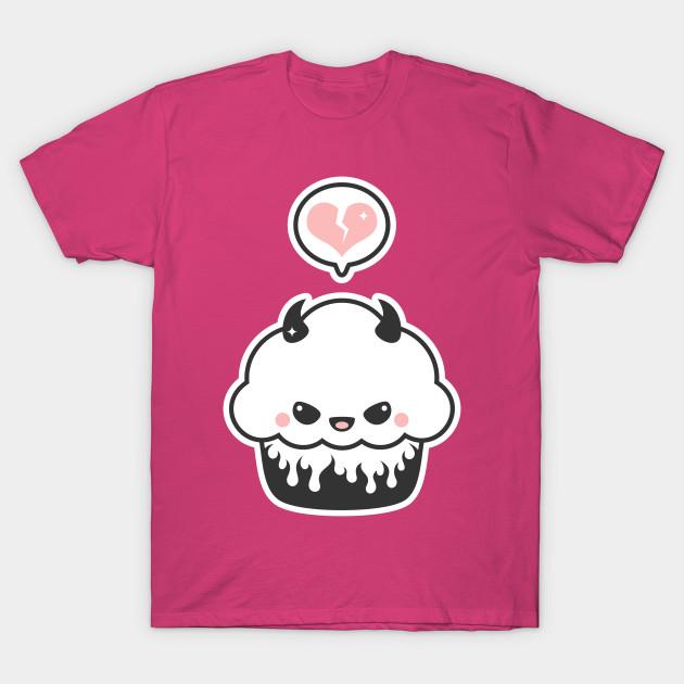 Kawaii Evil Cupcake - Cupcake - T-Shirt | TeePublic