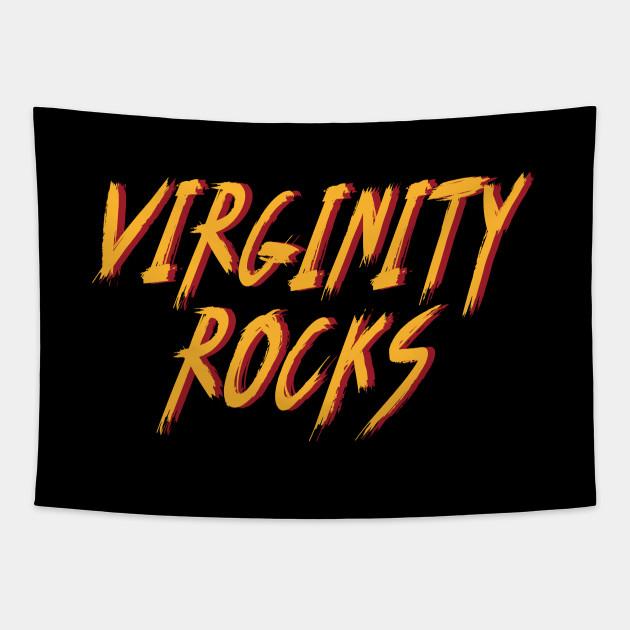 Funny Virginity Rocks Shirt Rock Style