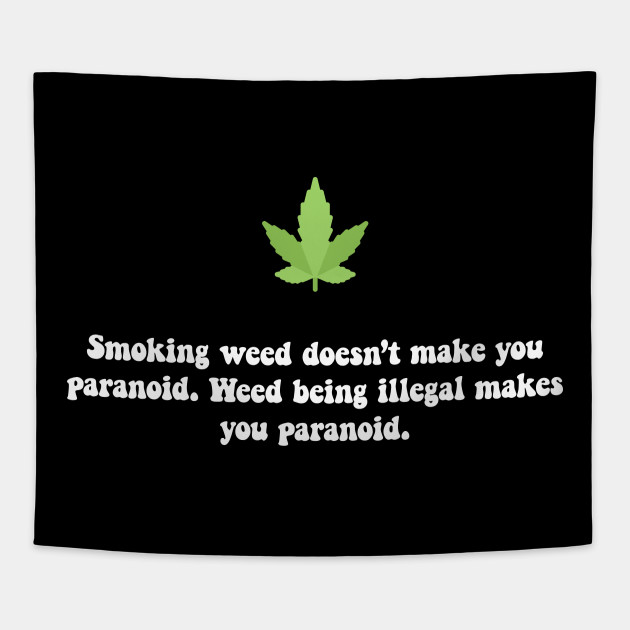 Smoking weed doesn't make you paranoid. Weed being illegal makes you  paranoid.