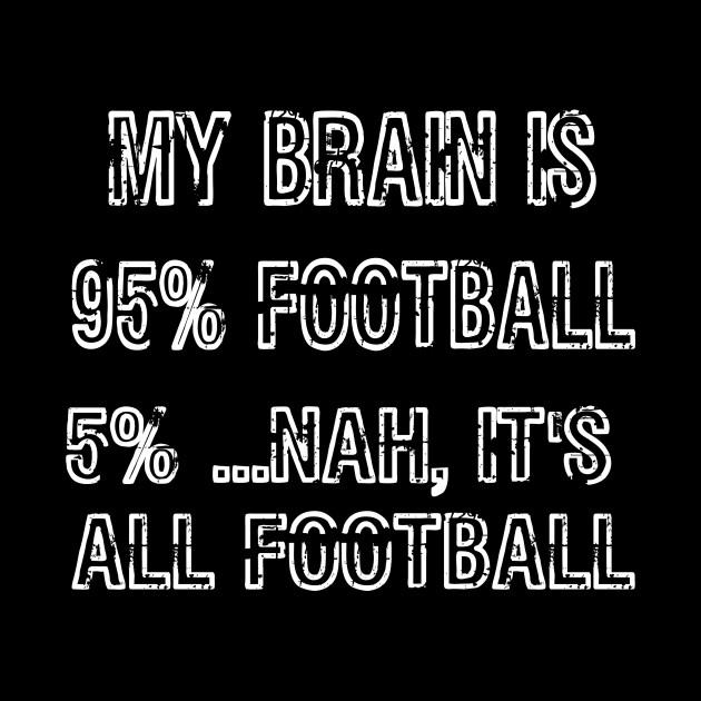 My Brain is 95% Football