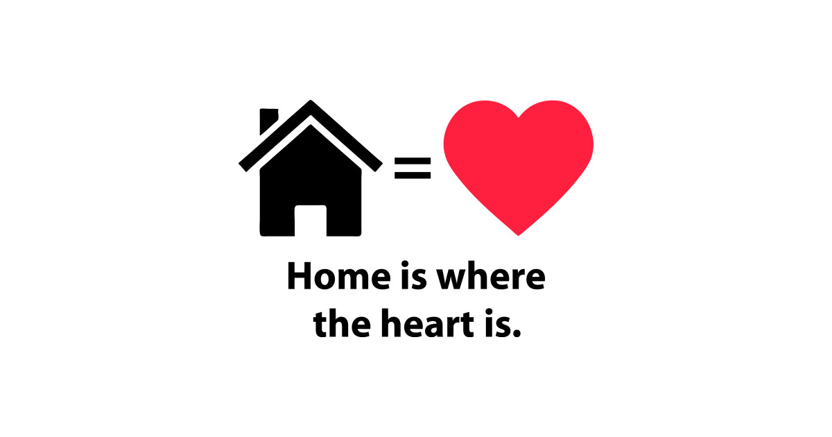 Home Is Where The Heart Is Quote Home T Shirt Teepublic