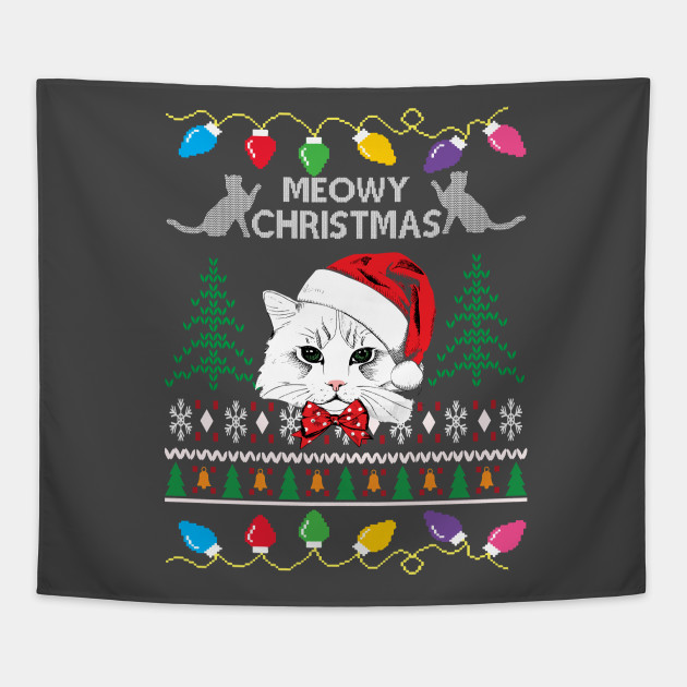 Ugly Christmas Sweater Cat.Cat Ugly Christmas Sweater By Azim222