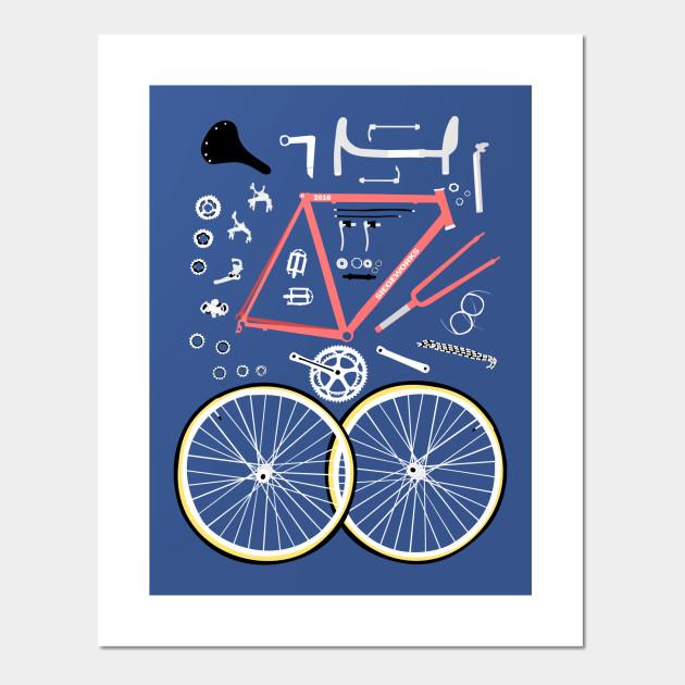 Bicycle Parts Bike Posters And Art Prints Teepublic