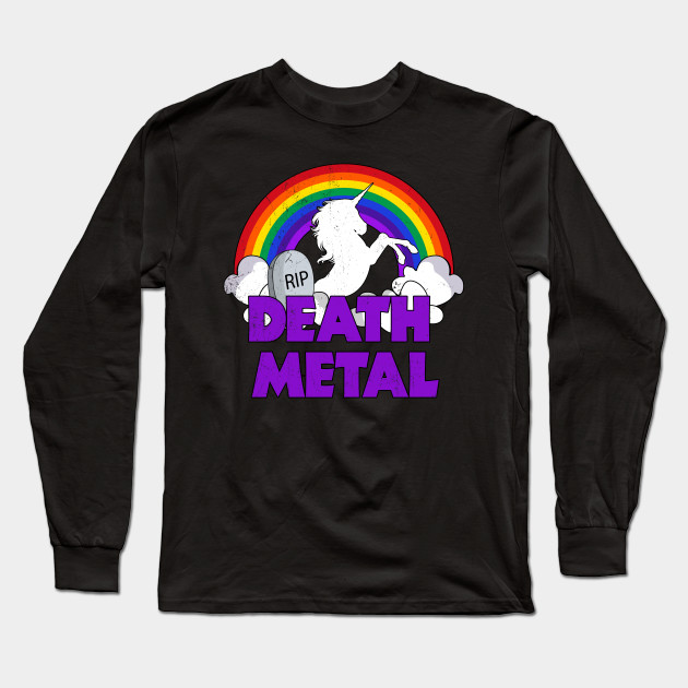 7d7b44b4 Unicorn Death Metal Rainbow Thunder - Death Metal Unicorn - Long ...