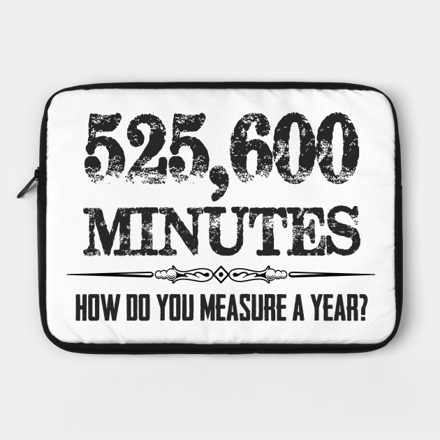 525600 Minutes Rent Musical Theatre Quotes - Actor Stage Manager by merkraht
