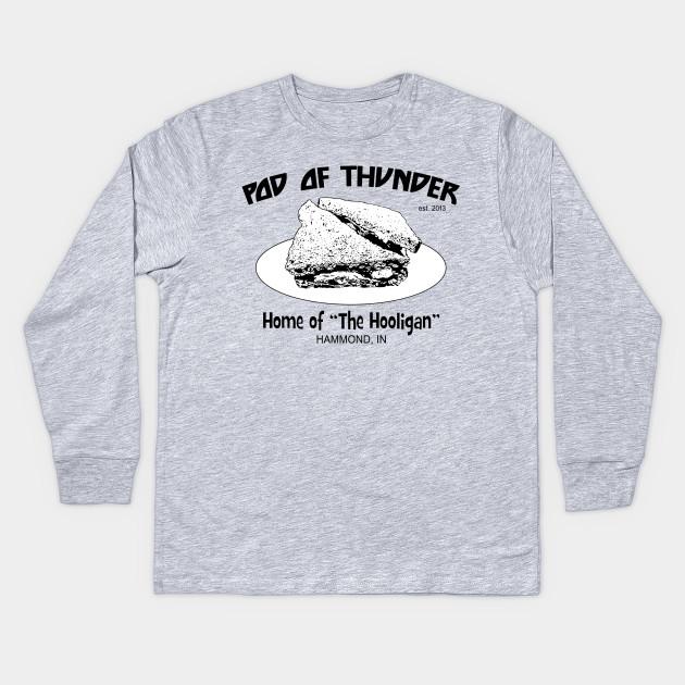 df42126733f Pod of Thunder Hooligan Sandwich Light T-Shirt - Kiss Podcast - Kids ...