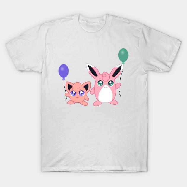 jigglypuff and wigglytuff pokemon tshirt teepublic