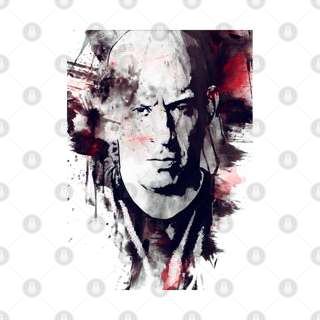 Dominic Toretto Fast & Furious Black And White Art