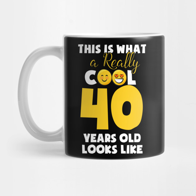 Kids Emojicon 40th Birthday Gifts 40 Year Old Girls T Shirt