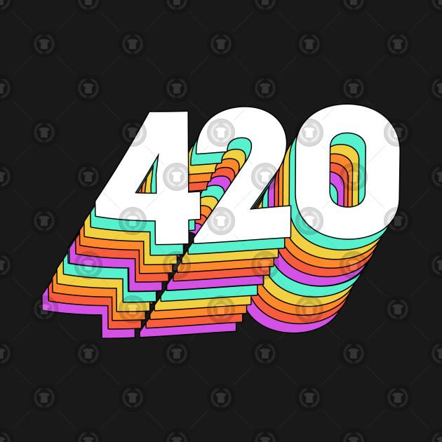 420 Retro 3D Slogan Design