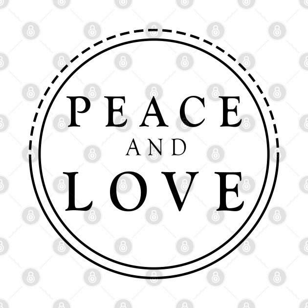 Peace And love Black Design