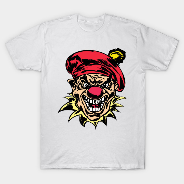 Scary Evil Bloody Clown Evil Clown T Shirt Teepublic