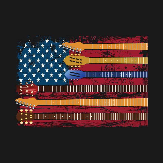 American Flag Guitar Patriotic Guitarists