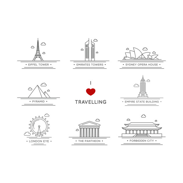 0696caad I love travelling - Travel - Kids Long Sleeve T-Shirt | TeePublic