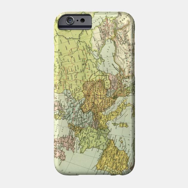 Vintage Map of Europe (1918) - Europe Map - Phone Case | TeePublic