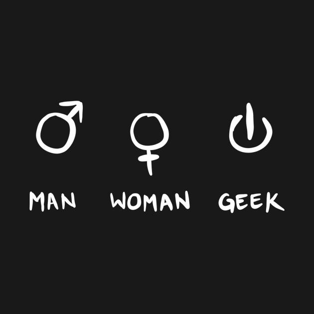 Man Women Geek Funny Geek Gift