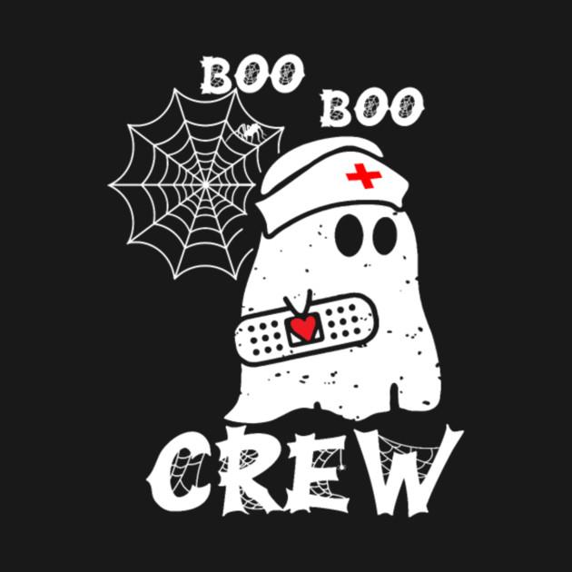 Boo Boo Crew Nurse Ghost Funny Halloween Gifts