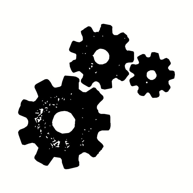 Gears Stencil Silhouette
