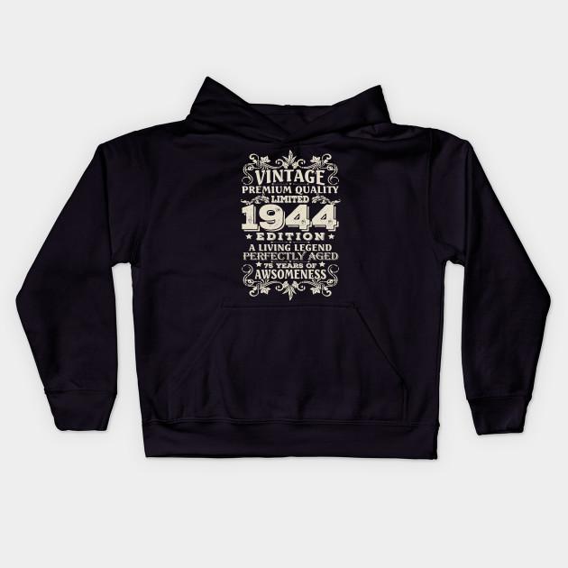 Vintage Made In 1944 75 Years Old Shirt 75th Birthday Gift Kids Hoodie
