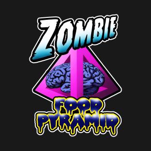 Zombie Food Pyramid. t-shirts