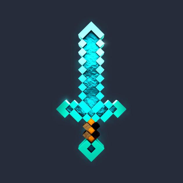 how to draw a 3d diamond sword