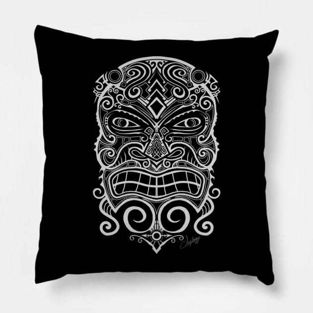 f5c0347e8543e Tiki Mask - Tiki Mask - Pillow   TeePublic