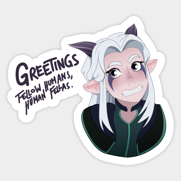 The Dragon Prince Character Stickers