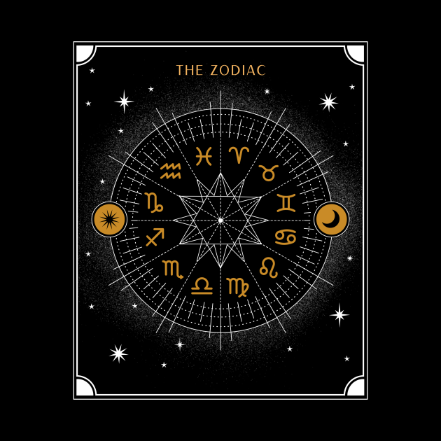 Signs of the Zodiac Wheel | Astrology Zodiac Sign Design