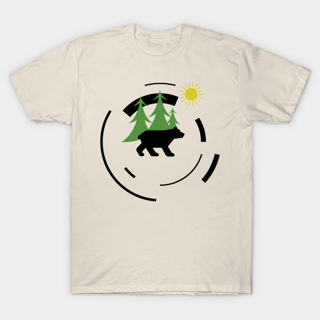 eca822e9c8a0 Abstract Bear - Abstract Bear - T-Shirt | TeePublic