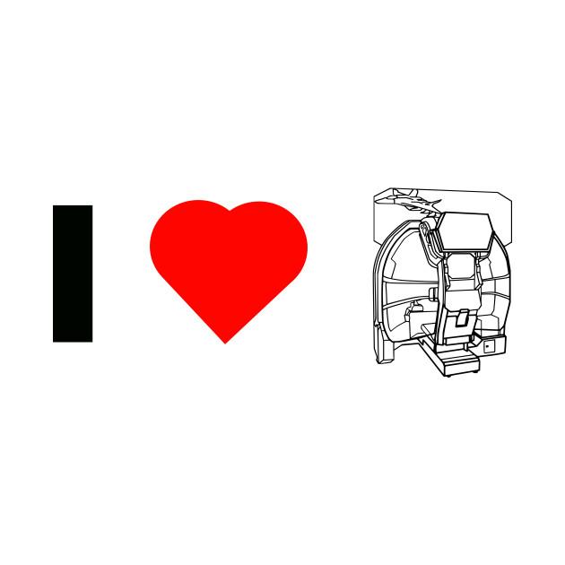 I 'Heart' Arcades - Modern