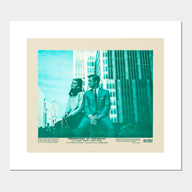 Cuscini Color Tiffany.Breakfast At Tiffany S Audrey Hepburn Poster E Stampa