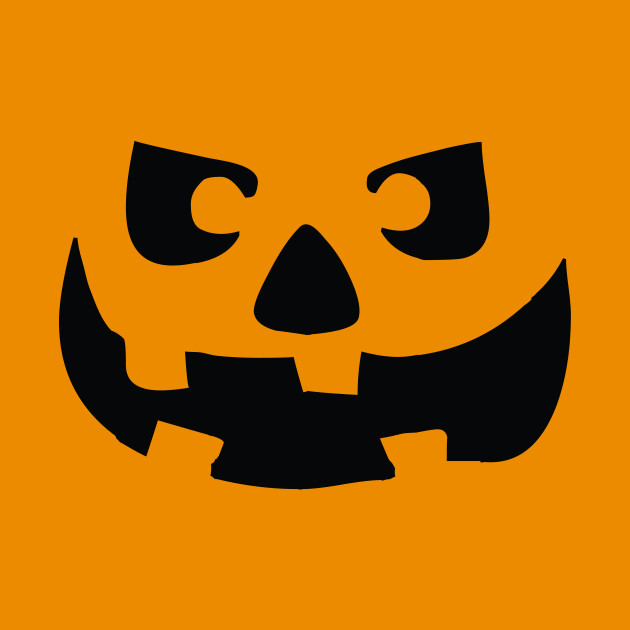 Spooky Halloween Jack O' Lantern Face
