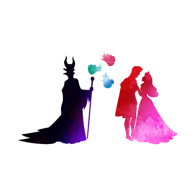 da20b273f Characters Inspired Silhouette - Sleeping Beauty - Onesie   TeePublic