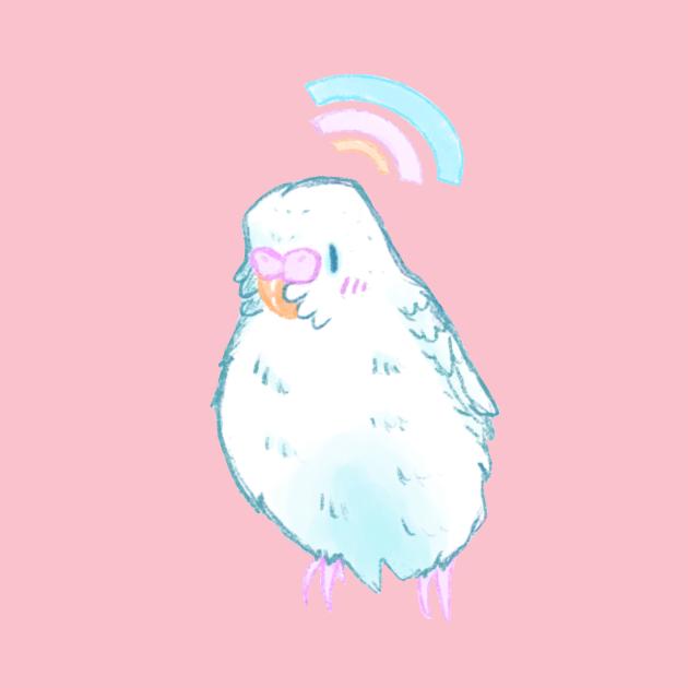 Sweet White Budgie