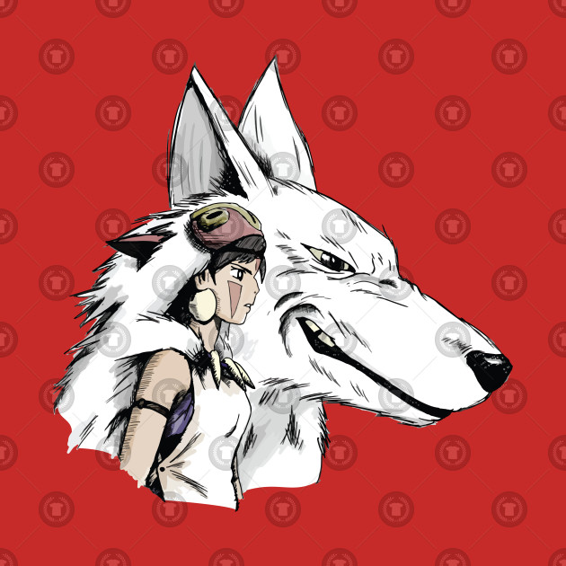 Princess Mononoke San and Moro もののけ姫