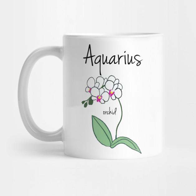 Aquarius Zodiac Sign Horoscope Flower Art Zodiac Signs Mug Teepublic