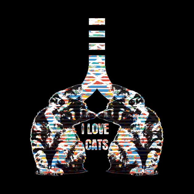 i love cats - cat lover t shirt