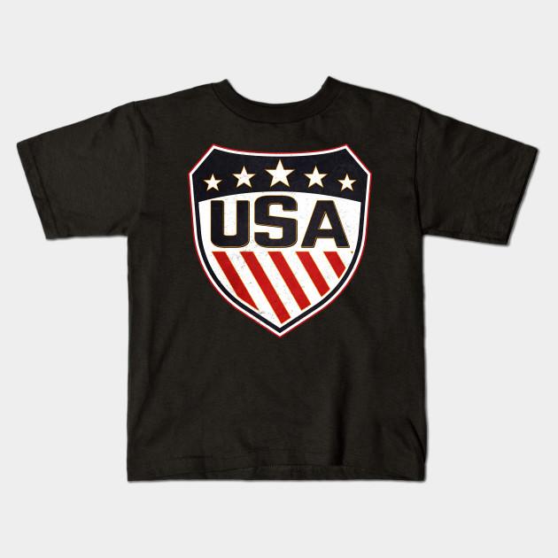 USA Patriotic Shield for Sports team - Usa Sports - Kids T-Shirt ... 2ac5318bc